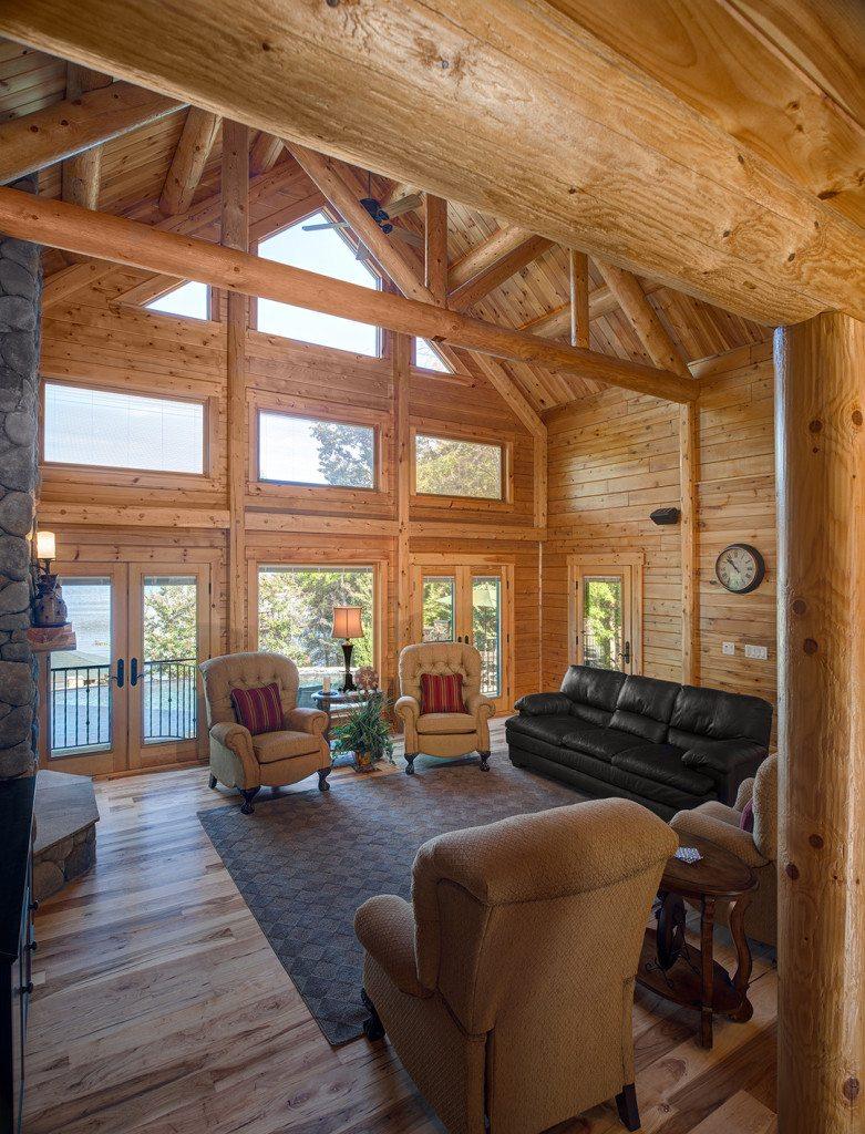 Bennett Log Cabin Design By Katahdin Cedar Log Homes