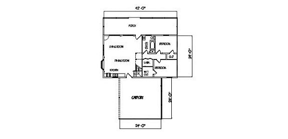 Log Home Plan #00676
