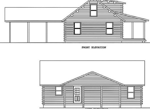 Log Home Plan #00676
