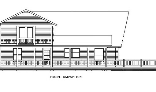Log Home Plan #00680