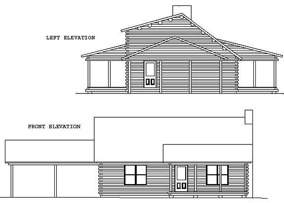 Log Home Plan #00681