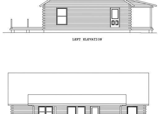 Log Home Plan #00682
