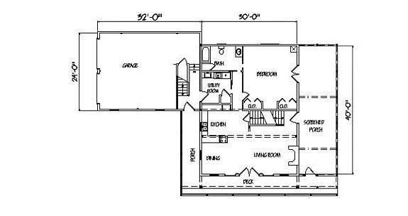 Log Home Plan #00683