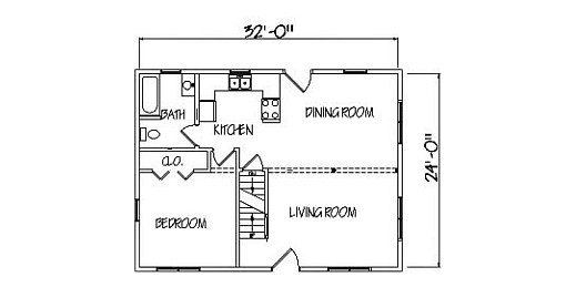 Log Home Plan #00692