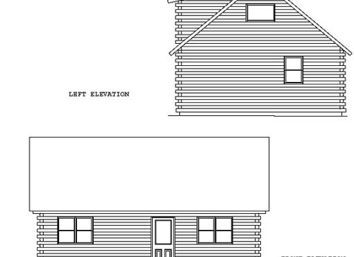 Log Home Plan #00692