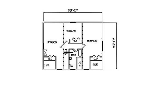 Log Home Plan #00701