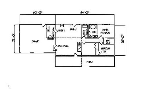 Log Home Plan #00702