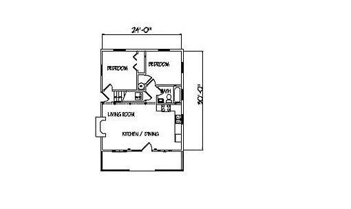 Log Home Plan #00703