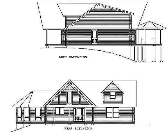 Log Home Plan #00706