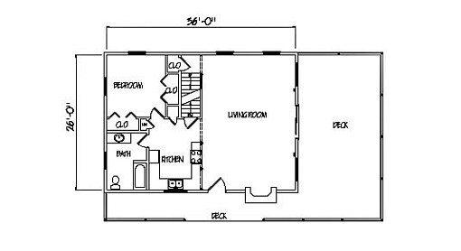 Log Home Plan #00707