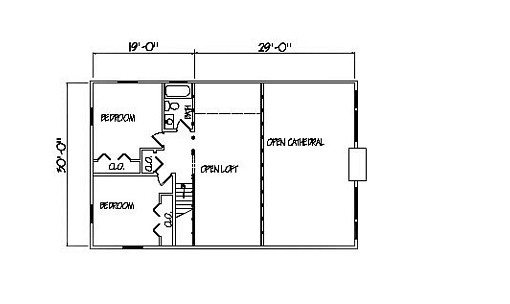 Log Home Plan #00710