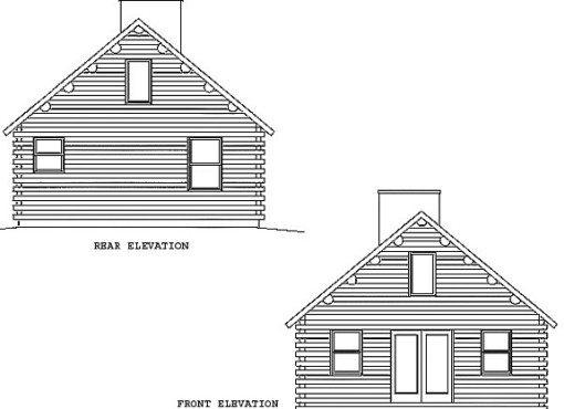 Log Home Plan #00711