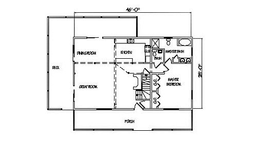Log Home Plan #00714