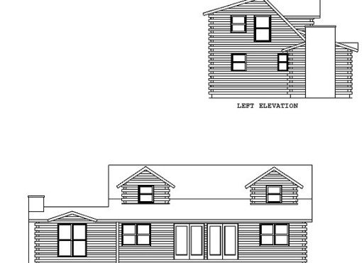 Log Home Plan #00724