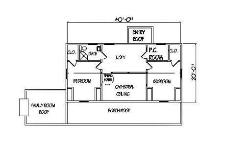 Log Home Plan #00724