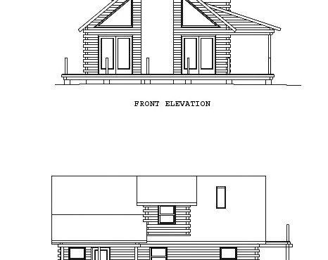 Log Home Plan #00726