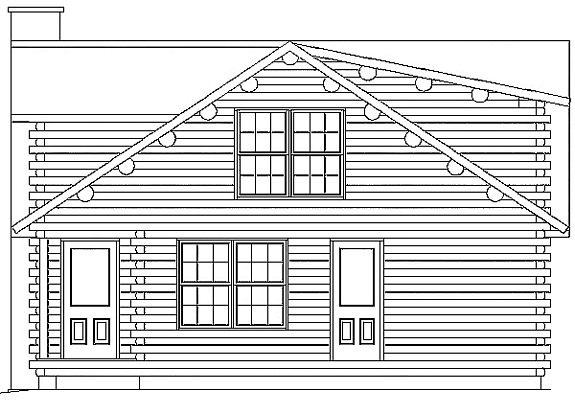 Log Home Plan #00729