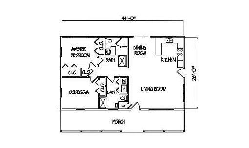 Log Home Plan #00731