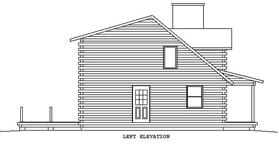 Log Home Plan #00732