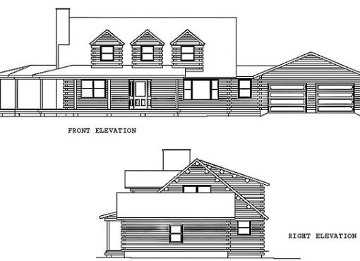 Log Home Plan #00741