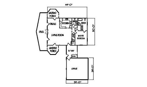 Log Home Plan #00747