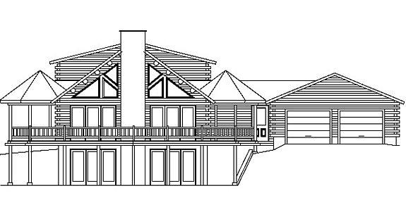 Log Home Plan #00747