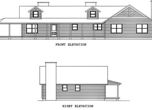 Log Home Plan #00748