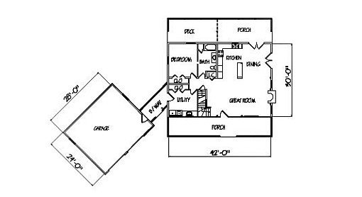 Log Home Plan #00749