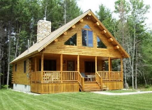 Log home plan 00754 katahdin cedar log homes floor plans for Cost to build 1500 sq ft cabin
