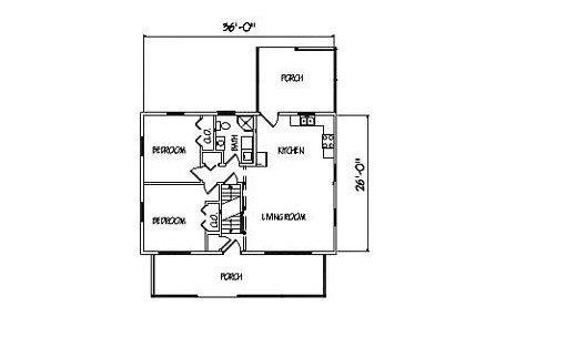 Log Home Plan #00755