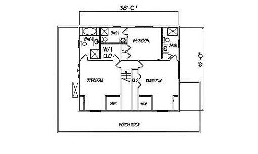 Log Home Plan #00756