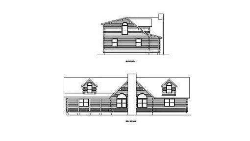 Log Home Plan #00760