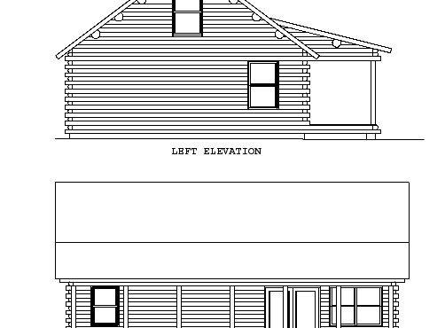 Log Home Plan #00762