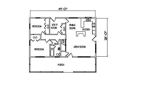 Log Home Plan #00763