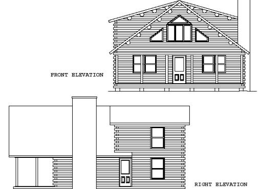 Log Home Plan #00766
