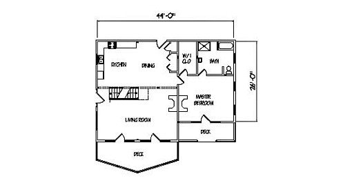 Log Home Plan #00768