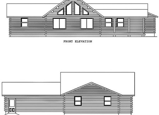 Log Home Plan #00770