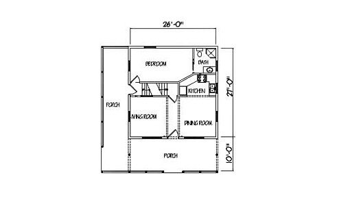 Log Home Plan #00773