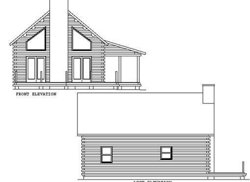Log Home Plan #00774