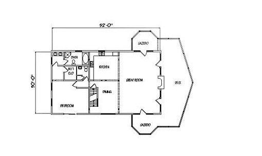 Log Home Plan #00776