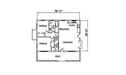 Log Home Plan #00790