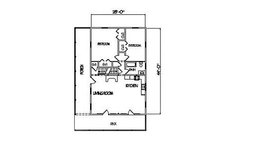 Log Home Plan #00795