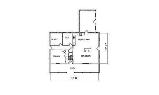 Log Home Plan #00816