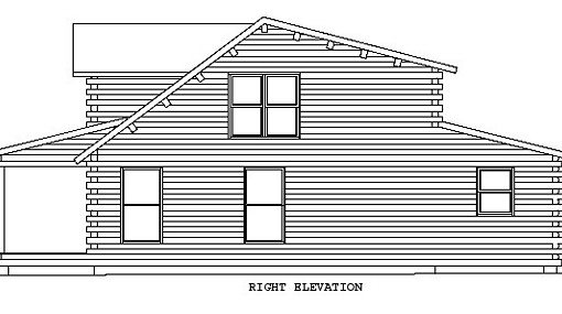 Log Home Plan #00910