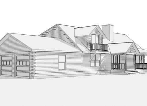Log Home Plan #01830