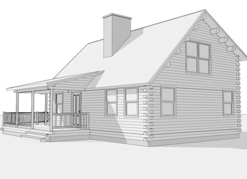 Log Home Plan #01822