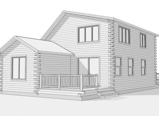 Log Home Plan #01819
