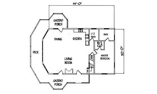 Log Home Plan #01033