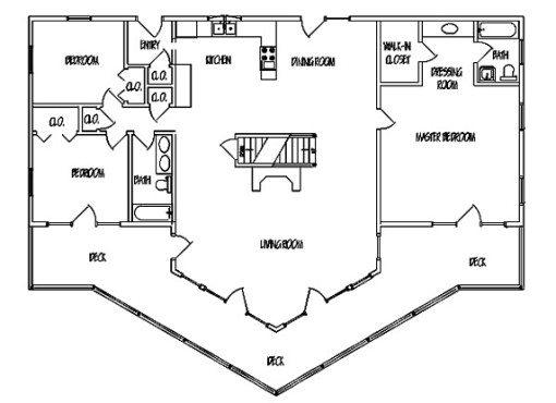 Log Home Plan #01101