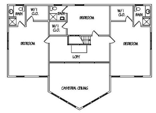 Log Home Plan #01102